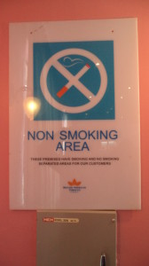 BATN branded No Smoking sign for Nigeria hotels. (2)